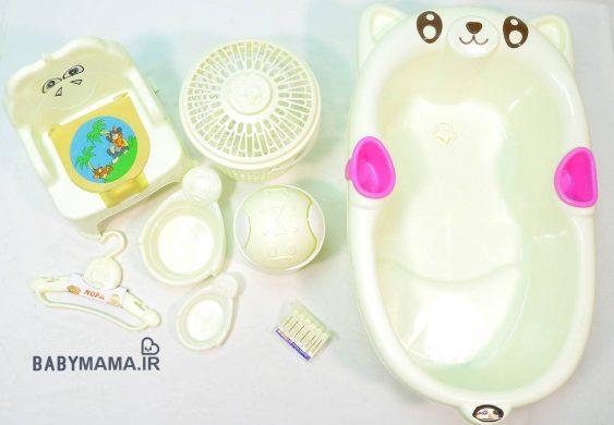 سرویس پلاستیک ۸ پارچه وان حمام ارابه مدل پاندا |