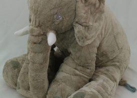 عروسک پولیشی فیل مخملی بالشتی ۶۵ سانتی متری
