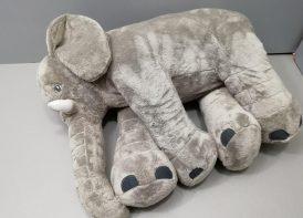 عروسک پولیشی فیل مخملی بالشتی 65 سانتی متری