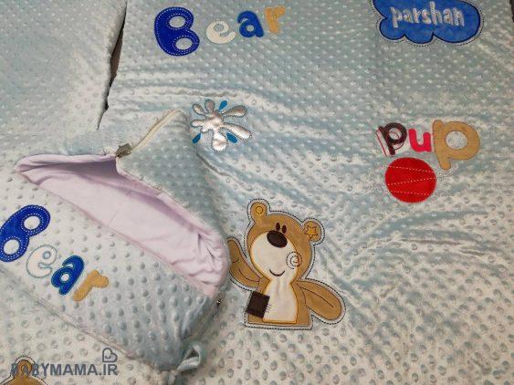 سرویس خواب مخمل پارچه خارجی مدل Bear Pup