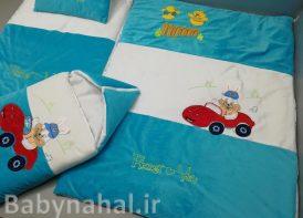 سرویس خواب مخمل 4 تیکه نوزادی مدل خرگوش ماشین سوار