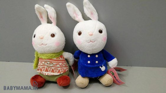 عروسک خرگوش نشسته MeToo 20 سانتی متری