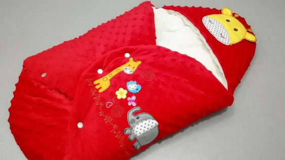 کیسه خواب مخمل کودک مدل زرافه