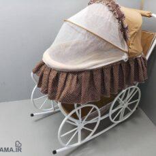 تخت و گهواره کودک مدل کالسکه ای