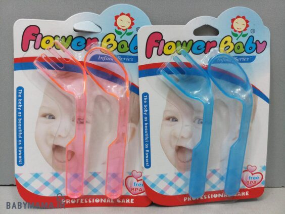 قاشق چنگال دو عددی سرکج Flower baby 2