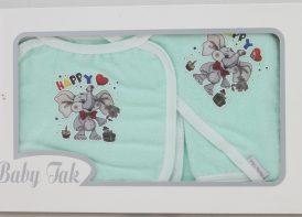 سرویس حوله نوزادی ۴ تیکه Baby Tak