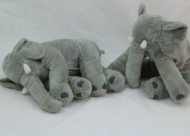 عروسک ایکیا پولیشی فیل مخملی بالشتی 35 سانتی متری مدل JATTESTOR