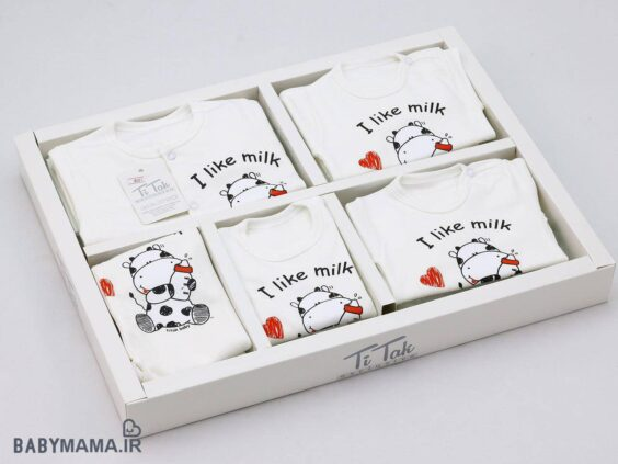 19 تیکه نوزادی تیتک مدل I like milk