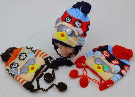 کلاه بافت کودک مدل خرس عینکی