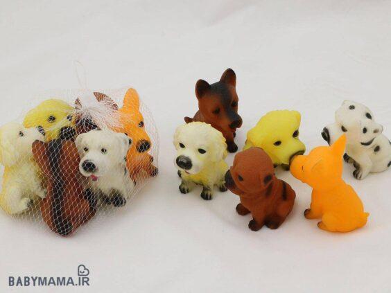 ست پوپت 6 عددی مدل سگ