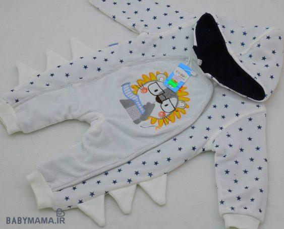 سرهمی نوزادی مخمل Barook مدل ستاره