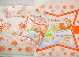 ست خواب مخمل کودک مدل کریسمس