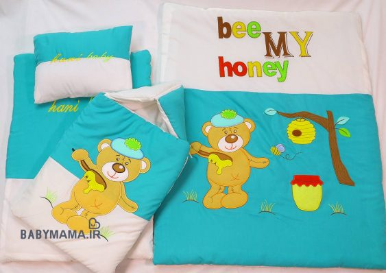 ست خواب 4 تیکه تترون مدل Bee my honey