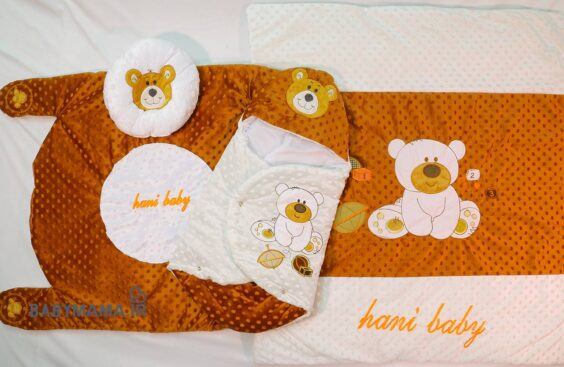 سرویس خواب مخمل hani baby مدل خرس نشسته