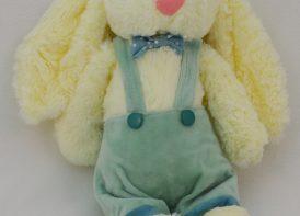 عروسک خرگوش جلی کت لباس دار ۳۰ سانتی متری مدل مینگرین