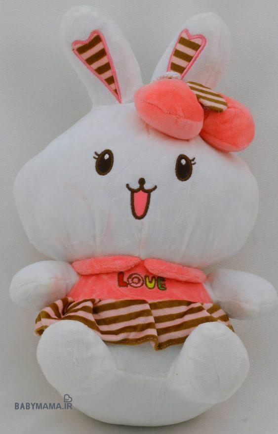 عروسک خرگوش خندان مدل ۳۵ سانتی متری