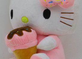 عروسک پلیشی کیتی مدل بستنی 25 سانتی متری