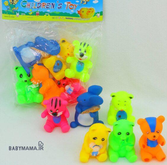 پوپت 8 عددی childrens toy مدل حیوانات
