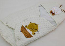 کیسه خواب مخمل کودک مدل خرگوش و گربه