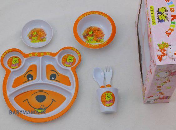 ست ظروف 5 پارچه ملامین کودک سپاس
