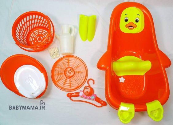 سرویس پلاستیک وان حمام آریا بیبی مدل جوجه |