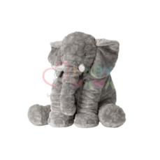 عروسک پولیشی فیل مخملی بالشتی ۵۰ سانتی متری