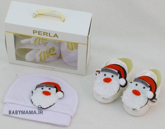 ست پاپوش و کلاه نوزادی perla