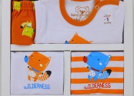 ست ۵ تیکه نوزادی پنبه کاراتک مدل Wilderness (2)