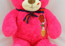 عروسک خرس ۷۰ سانتی متری مدل گل رز