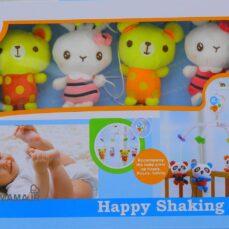 آویز تخت پولیشی کودک Happy shaking bell مدل D111