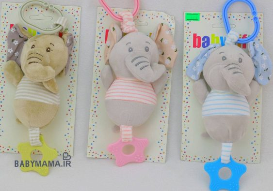 آویز کریر و کالسکه baby gift مدل فیل