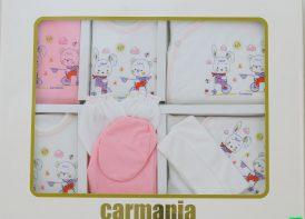 ست ۱۹ تیکه پنبه نوزادی کارمانیا مدل خرگوش دورچرخه سوار (1)