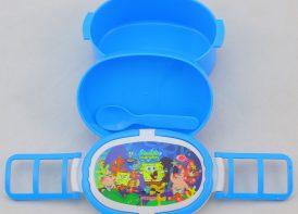 ظرف غذای دو طبقه کودک مدل باب اسفنجی