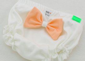 شورت پنبه نوزادی ردپا مدل پاپیوندار (۲)