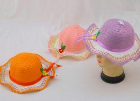 کلاه حصیری دخترانه مدل گل ribbon & flowers