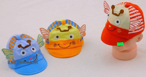 کلاه نوزادی عروسکی مدل پروانه