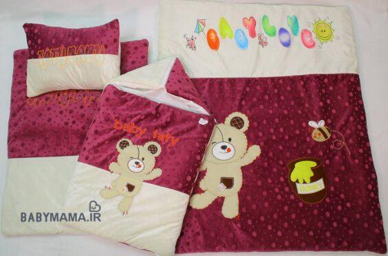 سرویس خواب مخمل 4 تیکه baby taty مدل honey