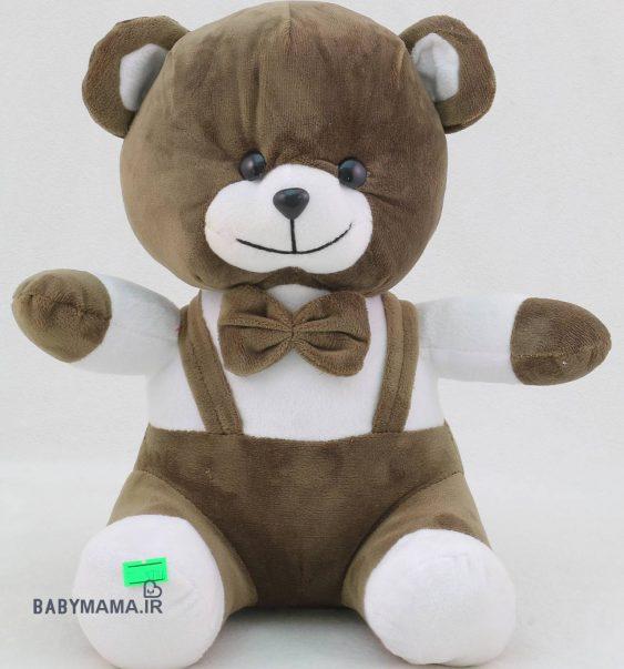 عروسک خرس 25 سانتی متری مدل دو بند