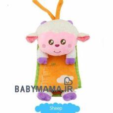 متر اندازه گیری قد کودک و نوزاد happy monkey مدل گوسفند