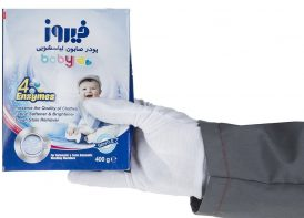 پودر صابون لباسشویی کودک فیروز مدل ۴ Anzymes مقدار ۴۰۰ گرم ۲