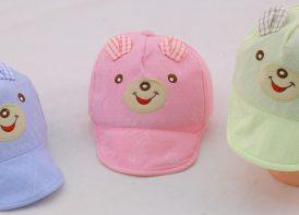 کلاه لبه دار خرسی نوزادی مدل ستاره
