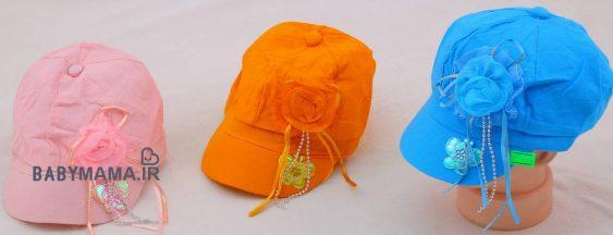 کلاه گپ دخترانه مدل گل و پروانه