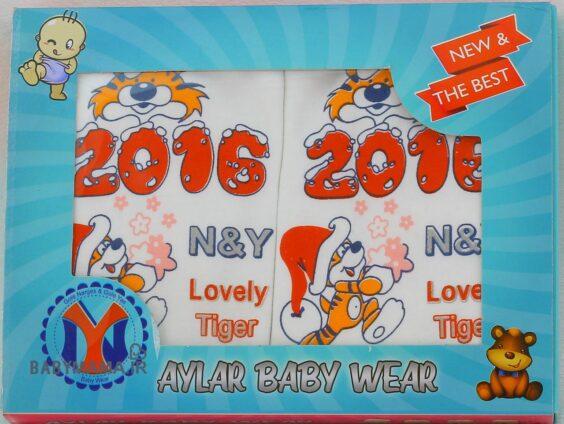 ست ۵ تیکه نوزادی پنبه آیلار مدل lovely tiger سایز 2 (1)