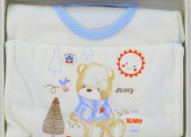 ست 5 تیکه نوزادی بلوشک مدل sunny سایز 2