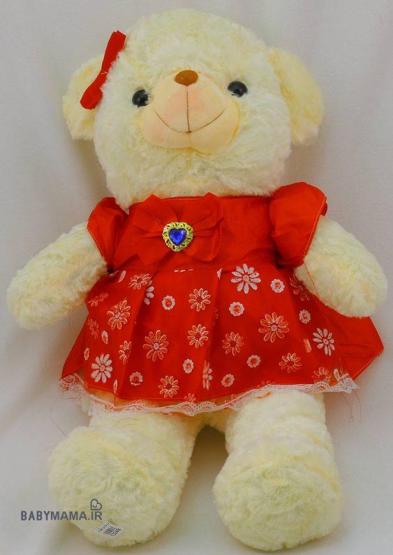 عروسک خرس دختر مدل سارافون توری 7۰ سانتی متری