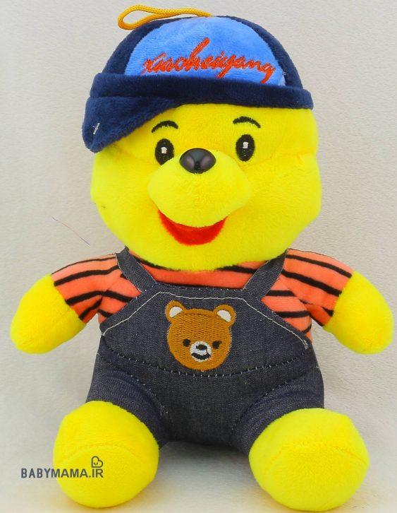 عروسک خرس پو مدل لباسدار راه راه