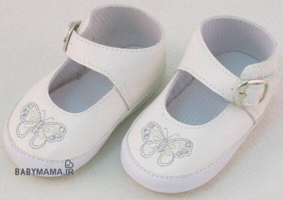 کفش چسبی دخترانه مدل پروانه اندازه 12 سانتی متر
