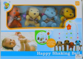 آویز تخت پولیشی کودک Happy shaking bell مدل D120