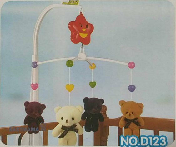 آویز تخت پولیشی کودک Happy shaking bell مدل D123