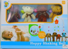 آویز تخت پولیشی کودک Happy shaking bell مدل D123